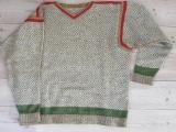 Trøje med gåseøje-mønster