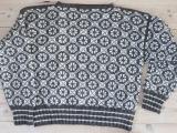 Norsk trøje med geometrisk mønster.