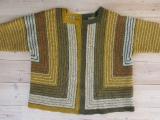 En cardigan strikket efter opskrift